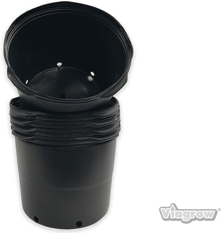 Viagrow #7 series Nursey Pots ( 6.08 Gal/23.02 Liters) 7 gal Trade pot (5pk)