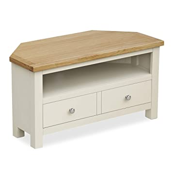 separation shoes 7279f d8624 Farrow Cream Painted Corner TV Stand - TV Unit