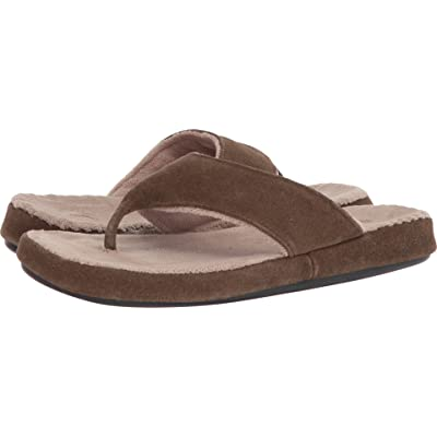 Acorn Mens Suede Spa Thong | Shoes