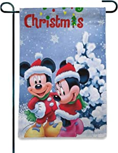 Stockdale Mouse Snowy Christmas Tree Garden Flag 2-Sided Indoor Decorations Flag