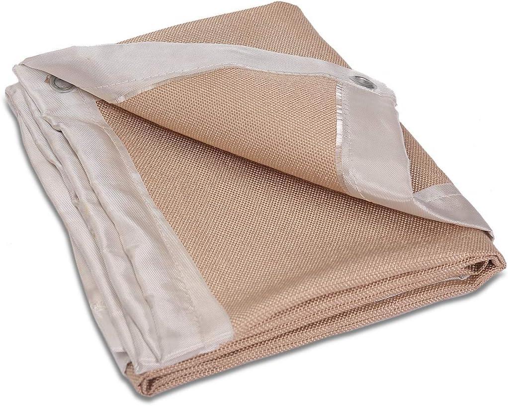 PREMIUM 6x8 ft Heavy Duty Welding Blanket Pack of 2 Fire Blanket Fire Retardant Welding Curtain Welding Shield 850GSM Thick Weld Blanket Fiberglass