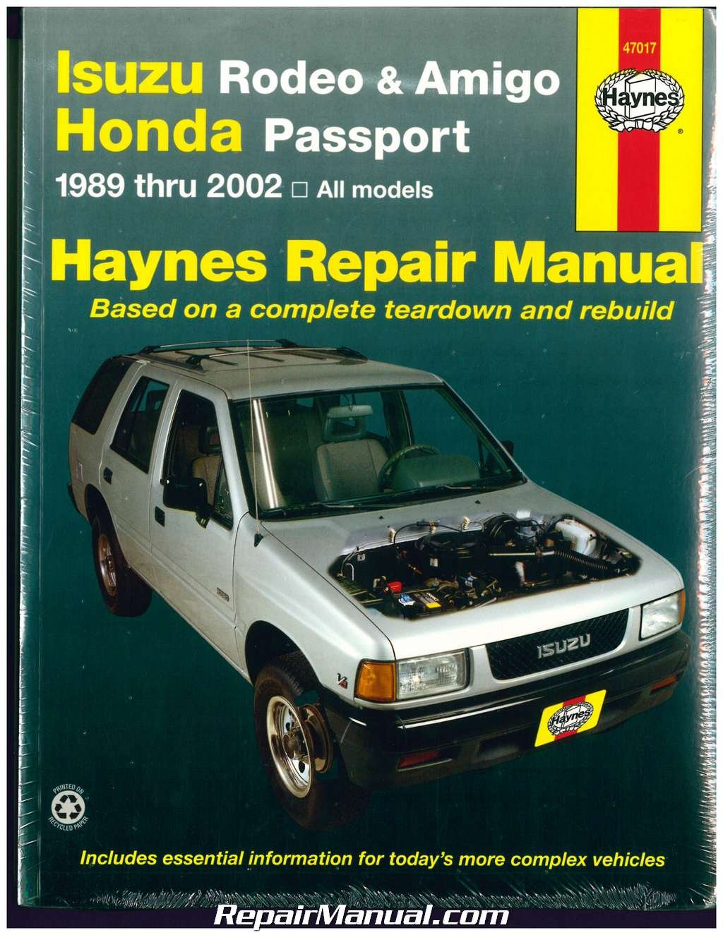 h47017 haynes isuzu rodeo amigo honda passport 1989 2002 auto repair rh  amazon com Honda Accord Service Manual PDF Honda Accord Service Manual PDF