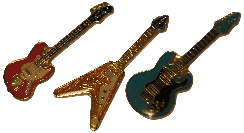 Guitar Lapel Pin  Tie Tack