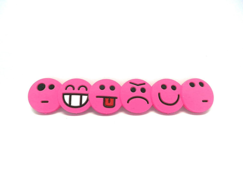 confezione da 6 antivibrazioni per corde Tennis Feel Sorbifun con emoji