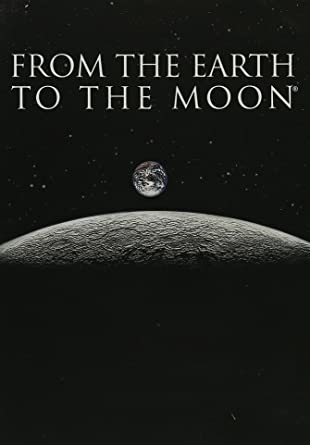 Earthrise over moon, From the Earth to the Moon text
