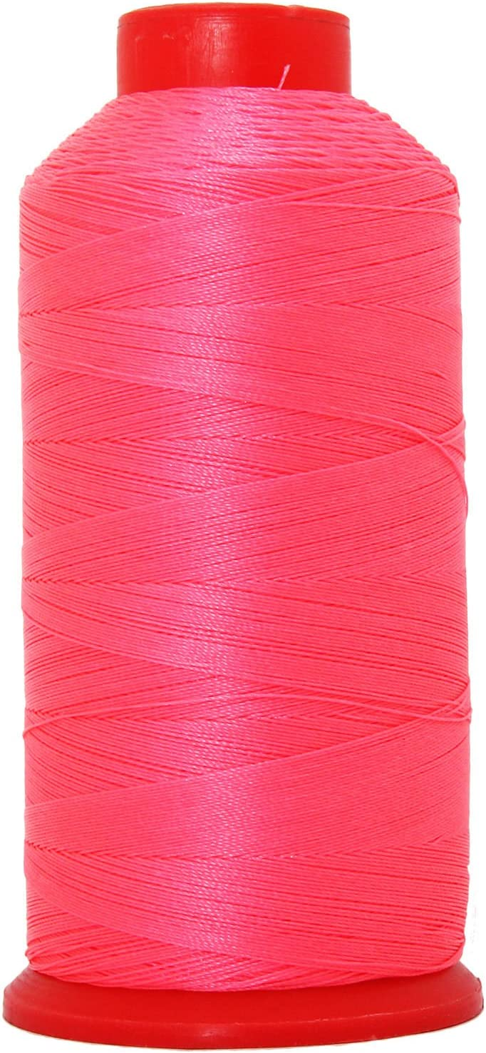 NEON Coral Nylon Thread NEON Colors Bonded #69 Upholstery Canvas Leather 1650YD Cones TEX70-6 Colors