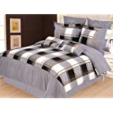 Madison 7-Piece Duvet Cover Set, Queen, Grey