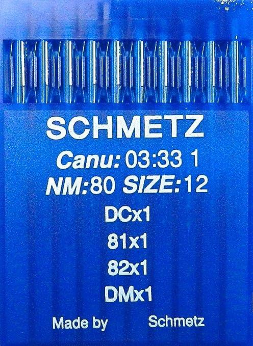 10 Schmetz redondo pistón indutrie Máquina de coser agujas ...