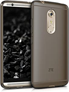 kwmobile Crystal Case Compatible with ZTE Axon 7 - Soft Flexible TPU Silicone Protective Cover - Black