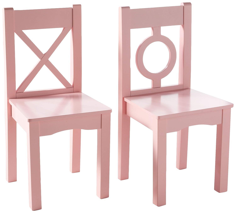 Wondrous Lipper International 521 2Pk Childs Chairs For Play Or Activity 12 75 W X 12 5 D X 27 25 H Set Of 2 Light Pink Short Links Chair Design For Home Short Linksinfo
