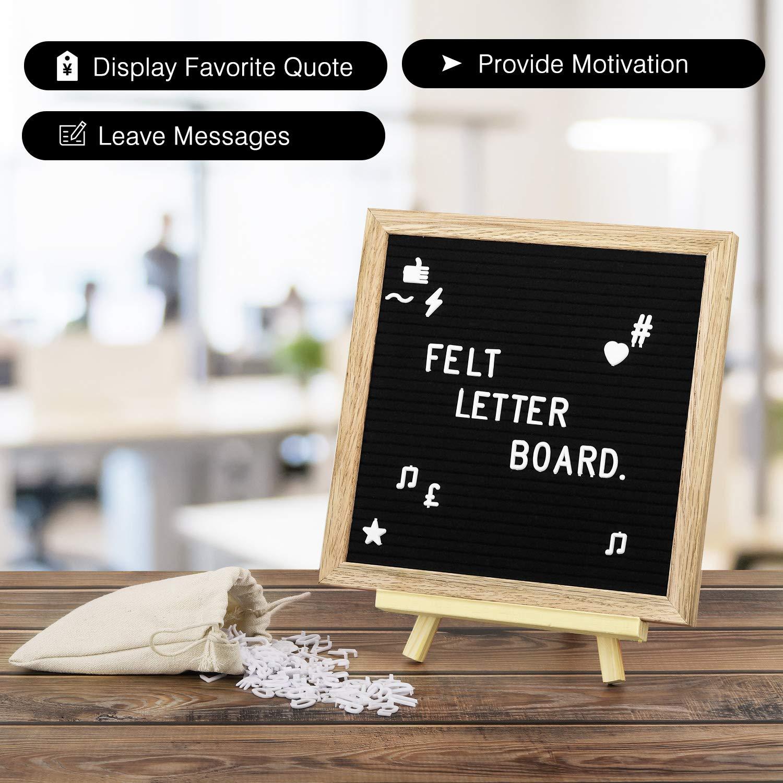 Simboli Supporto treppiede in Legno Accesori Giochi Bambini Ufficio Lavagna Bambini per Leggere Scrivere Messaggi Nero MoKo Lavagna in Legno da 25cm x 25cm con Lettere Numeri
