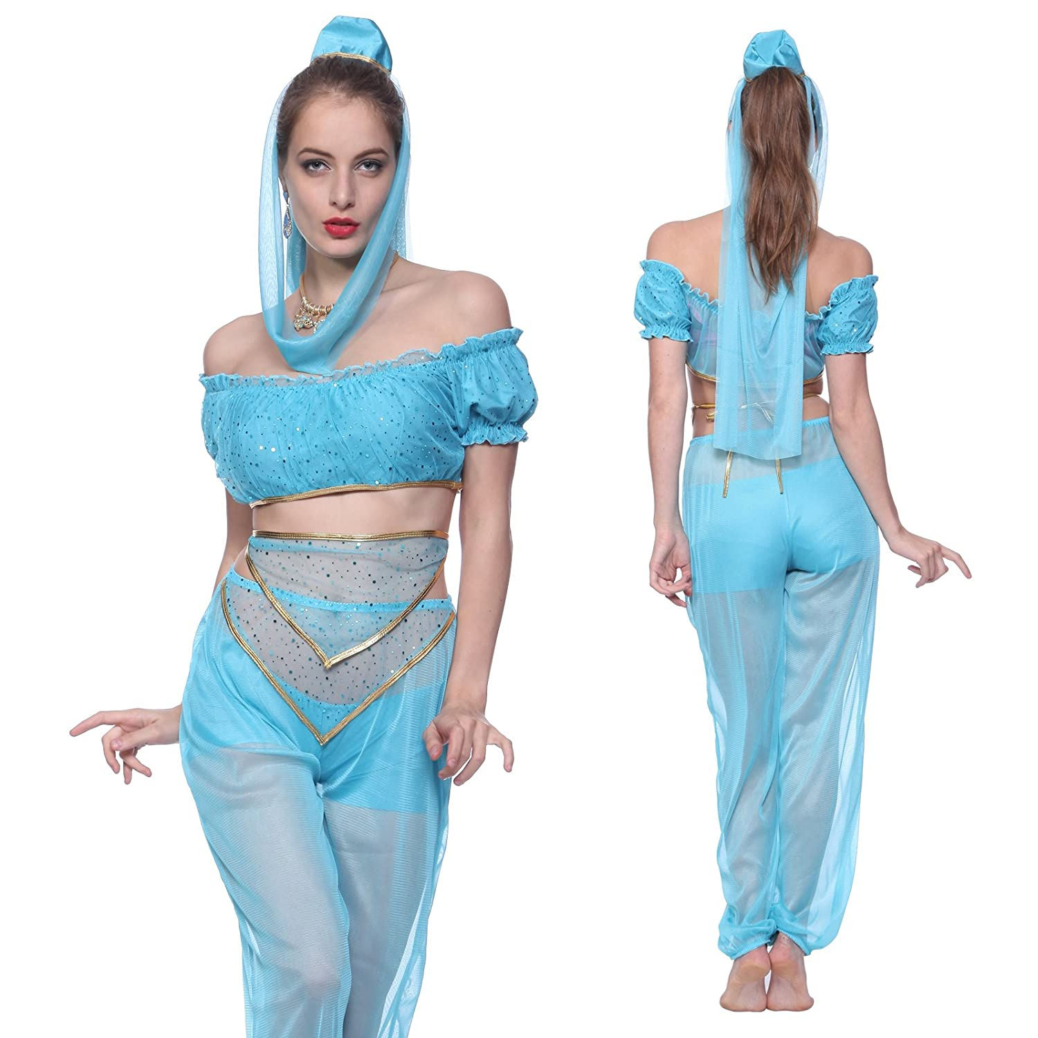 Beautiful design of arabian nights theme party dress best home jasmine genie belly dancer costume arabian nights fancy dress outfit solutioingenieria Images