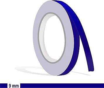 Siviwonder Zierstreifen Royalblau In 9 Mm Breite Und 10 M Länge Folie Aufkleber Für Auto Boot Jetski Modellbau Klebeband Dekorstreifen Königsblau Royal Blau Auto