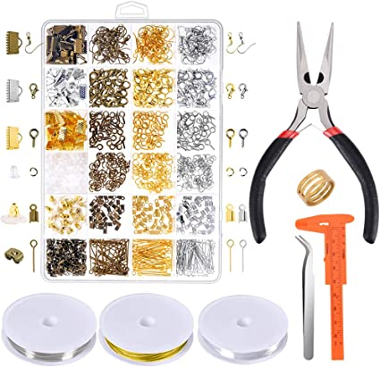 Jewelry Making Supplies Kit with Jewelry Tools Jewelry Wires and Jewelry Findings for Jewelry Repair and Beading