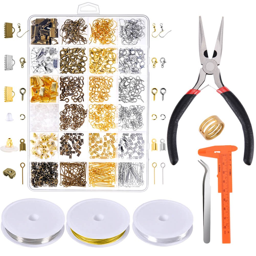 Paxcoo Jewelry Making Supplies Kit - Jewelry Repair Tools with Accessories Jewelry Pliers Findings and Beading Wires for Adult and Beginners by PAXCOO