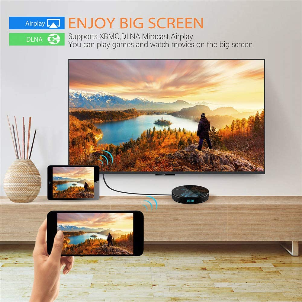 Android 9.0 Smart TV Box 【RAM 4G+32G ROM+Mini Teclado】 HK1 ...