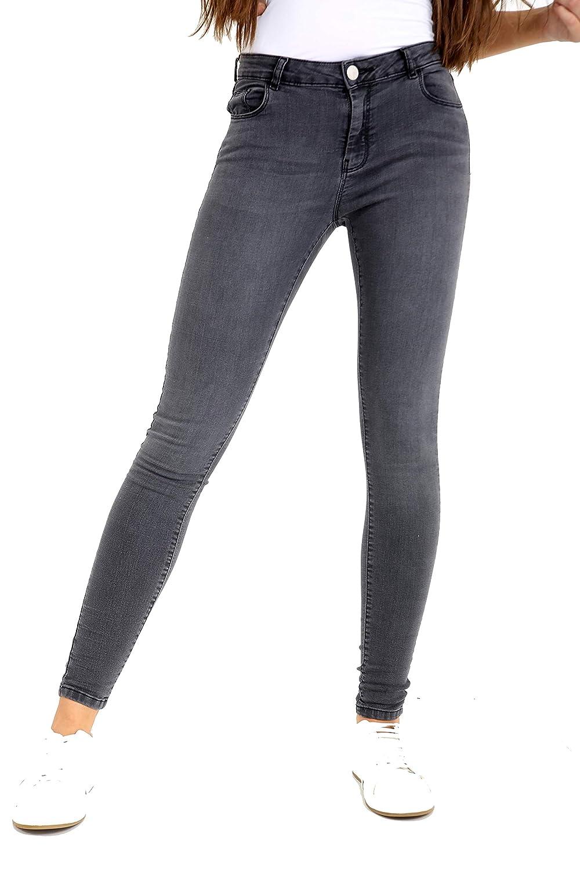 Ladies Ex High Street Grey 'Shape & Lift' Stretch Skinny Jeans