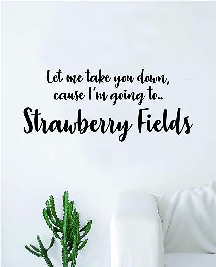 Amazon.com: Strawberry Fields The Beatles Wall Decal Sticker ...