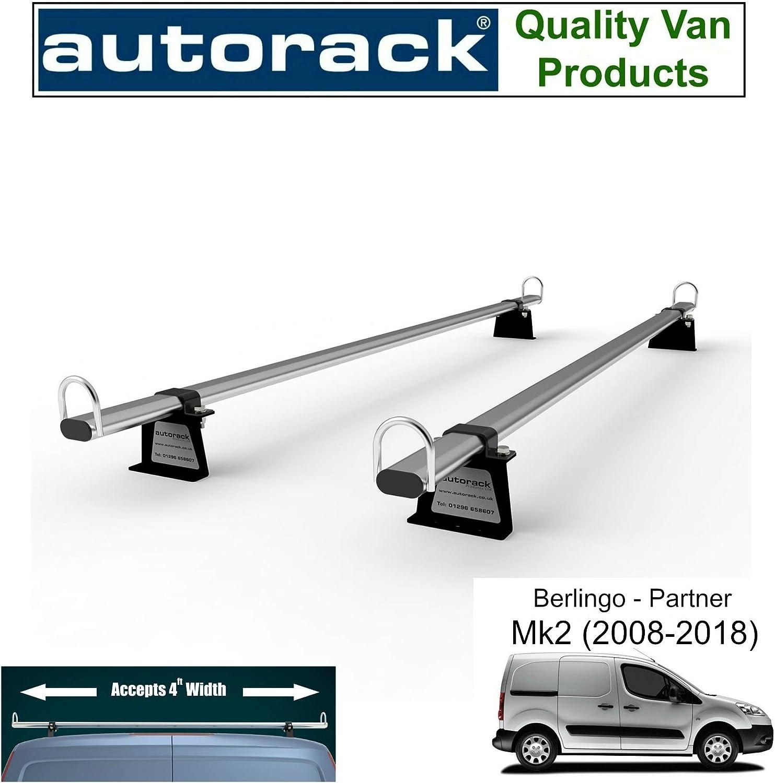Autorack WorkReady Support de Toit pour fourgonnette 2 Barres avec Rouleau pour Ford Transit Custom /à partir de 2012