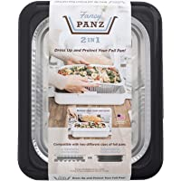 Fancy Panz 2-in-1 Dress Up & Protect Your Foil Pan, Made in USA, Fits 2 size of foil pans. Foil Pan & Serving Spoon…