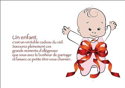 Jolie carte felicitation pour une naissance