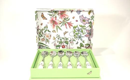 Set of 6 Portmeirion Botanic Garden Tea Spoons