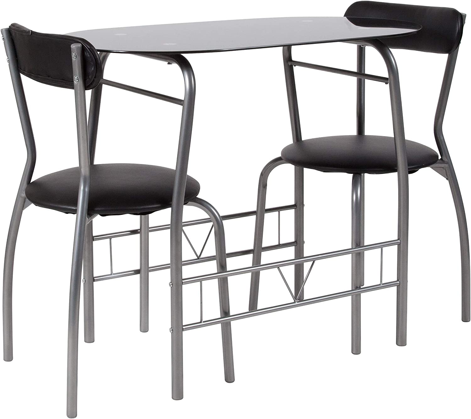 Amazon.com - F&F Furniture Group Set of 10 Silver and Black Bistro