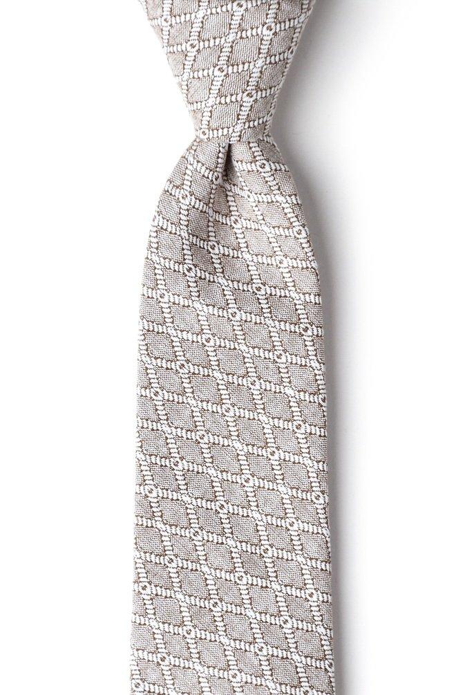 Redmond Tan/taupe Cotton Extra Long Tie