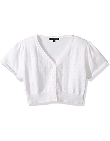 aafa871cdfd1 My Michelle Girls  Short Sleeve Cardigan Sweater