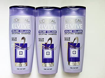 c465611260e 3 x LOREAL Elvive Volume Collagen Uplifting Shampoo 250ml,Fine Flat Hair