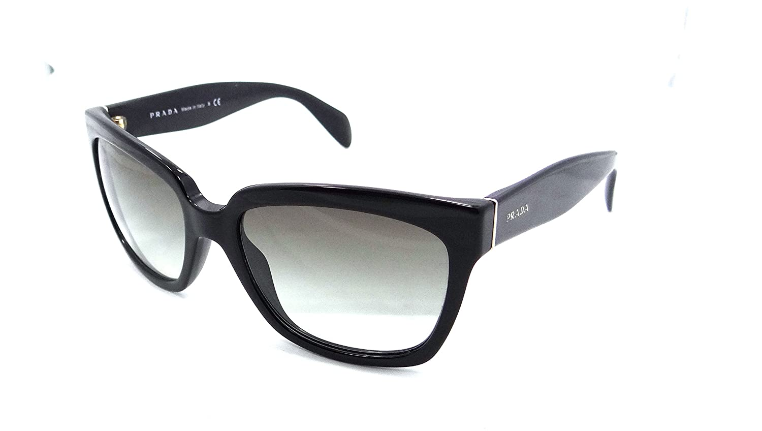 1424d018d Amazon.com: Prada Sunglasses Spr 07p 1ab-0a7 56x18 Shiny Black / Grey  Gradient Made in Italy: Clothing