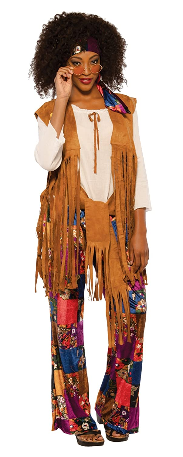 a5c4add6101 This adult hippie costume for women includes a shirt