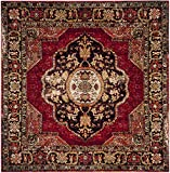Safavieh Vintage Hamadan Collection VTH219A Red and Multi Area Rug (5'3″ Square)