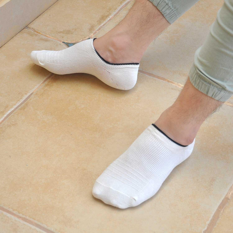 LOFIR Calcetines sin mangas para hombres Corte bajo Non Slip Grip-Invisible Calcetines para Oxfords Mocasines Zapatillas Zapatos de barco Zapatos de cuero ...