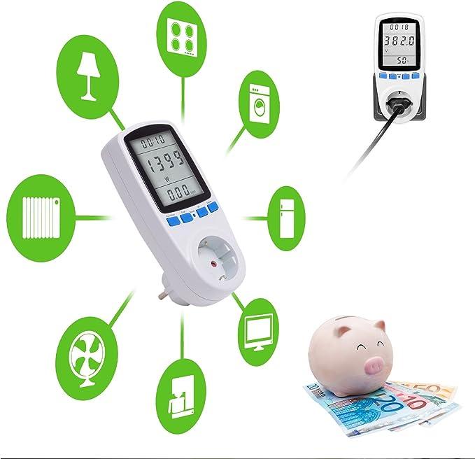 Tevigo - Medidor & Contador de Consumo electrico y costes energéticos | Indicador de Tiempo/energía/costes: Amazon.es: Electrónica