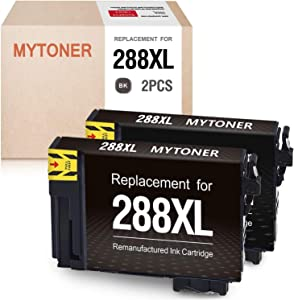 MYTONER Remanufactured Ink Cartridge Replacement for Epson 288XL 288 XL T288XL Ink Cartridges for Expression Home XP-440 XP-430 XP-340 XP-330 XP-446 XP-434 (Black,2-Pack)