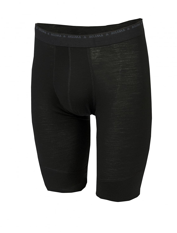 Aclima LightWool Shorts Long Men Jet schwarz 2019 Unterwäsche