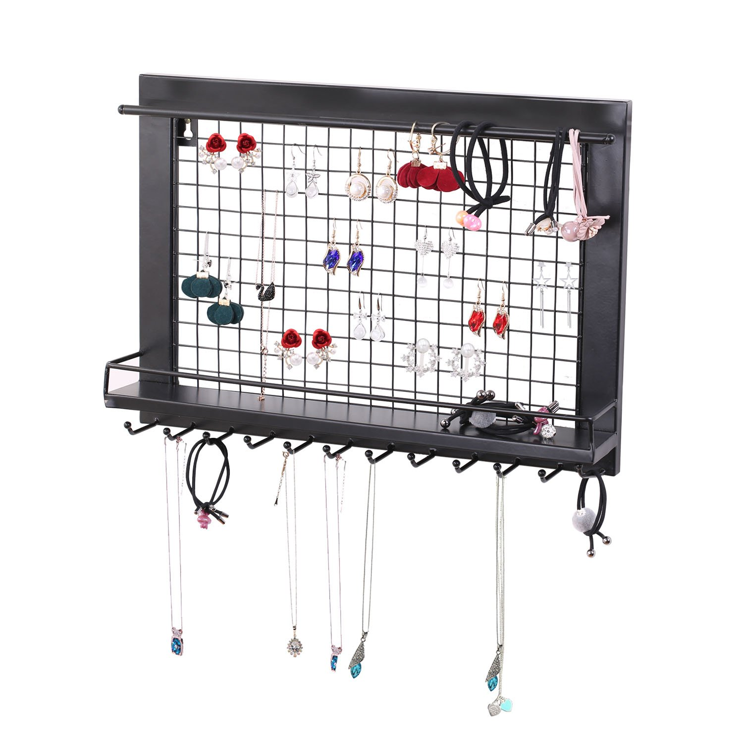 Vencer Wall Mount Jewelry Organizer for Earrings/Necklaces / Bracelets/Accessories VJO-001