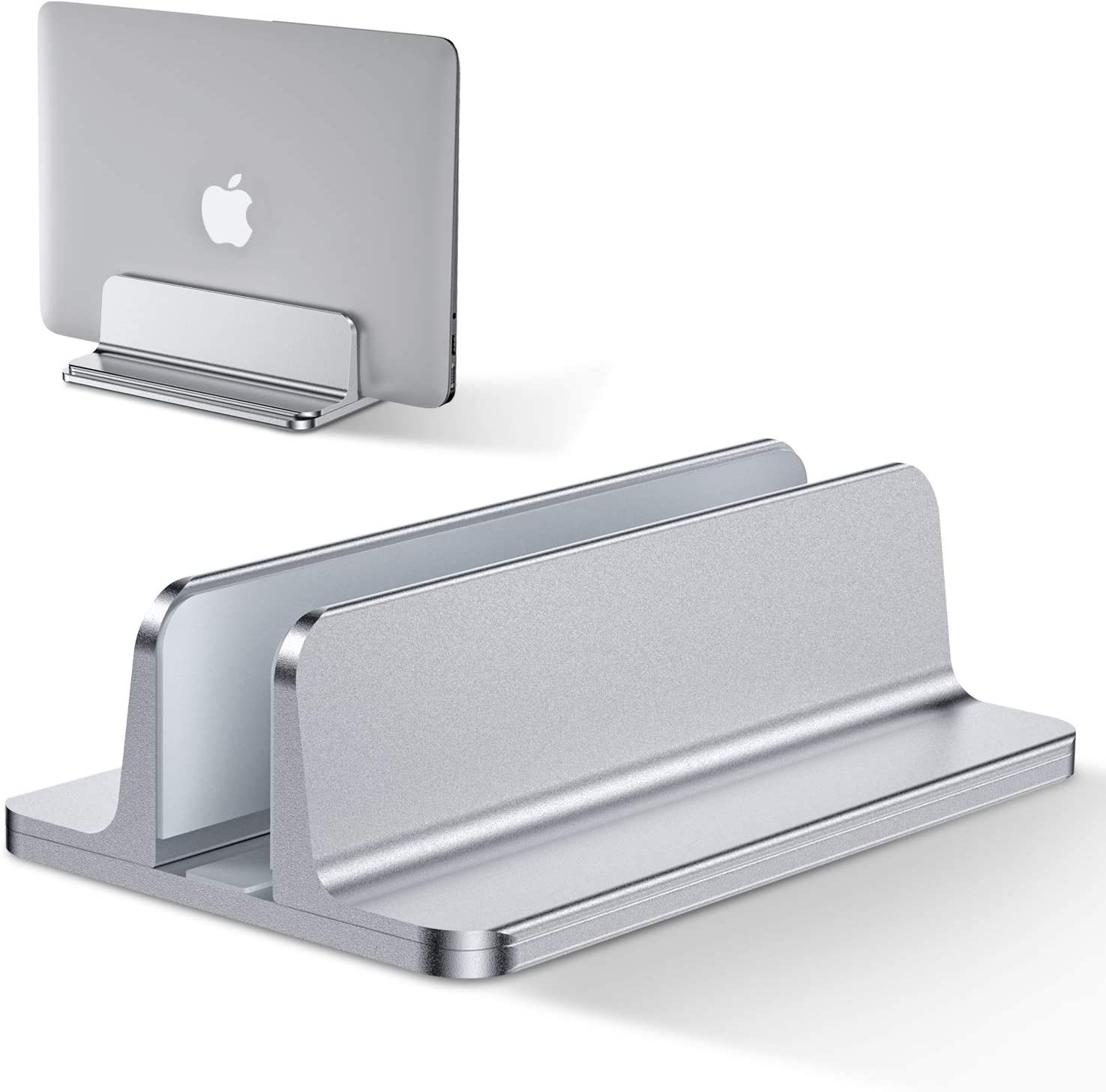 Surface Samsung Huawei Adjustable Size Suitable for MacBook Pro//Air ,Aluminum Adjustable Laptop Holder,Saving Space iPad HP Silver Bewahly Vertical Laptop Stand Dell Lenovo and Others