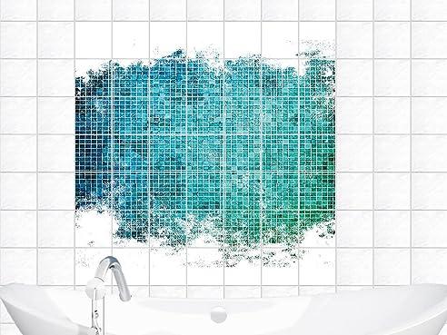 Schön Fliesenaufkleber Sticker Fliesenbilder Für Badezimmer Mosaik Muster Fliese  (Fliesengröße20x20cm (BxH)//Bildgröße