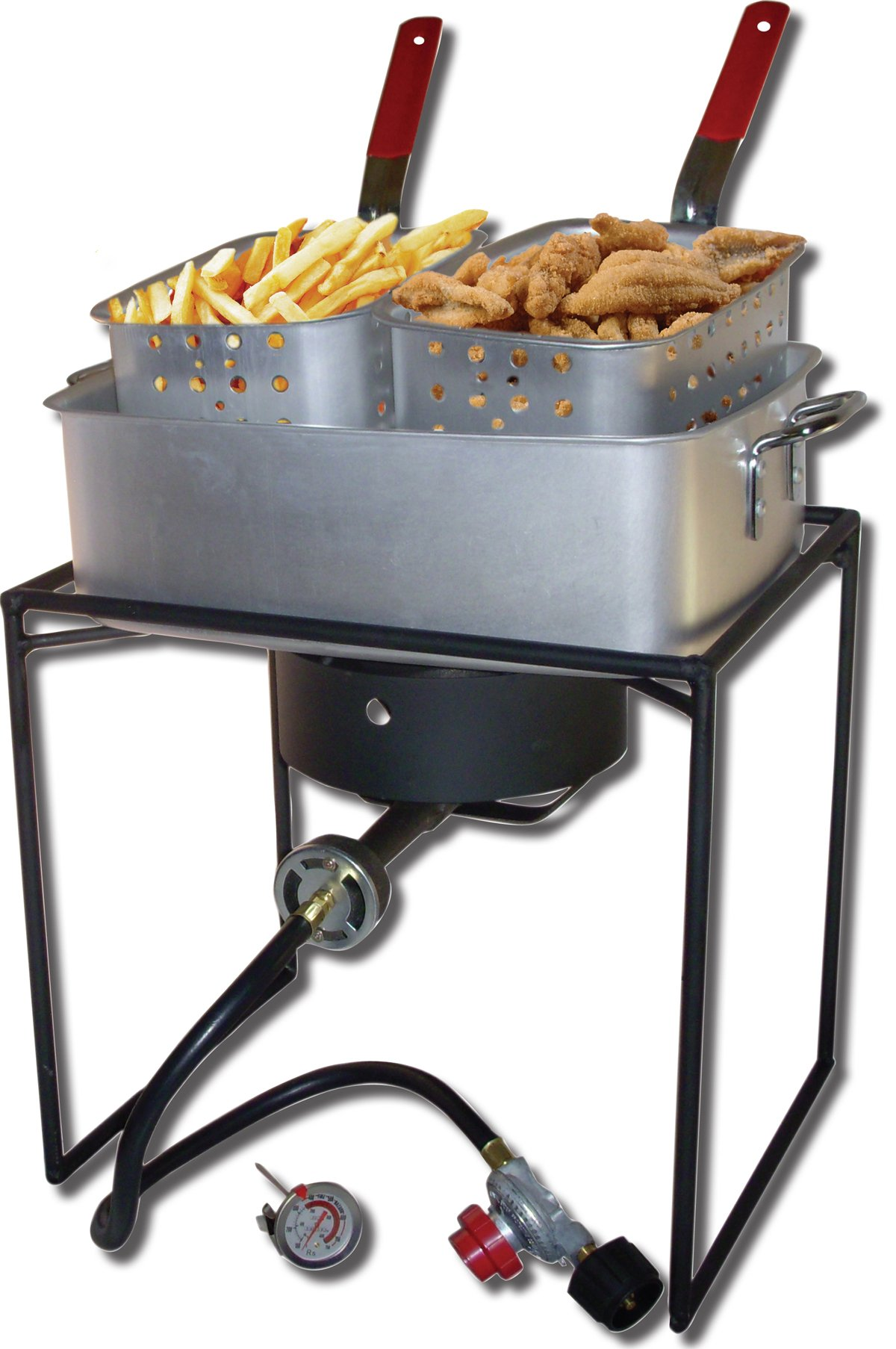King Kooker 1618 16-Inch Propane Outdoor Cooker with Aluminum Pan and 2 Frying Baskets by King Kooker