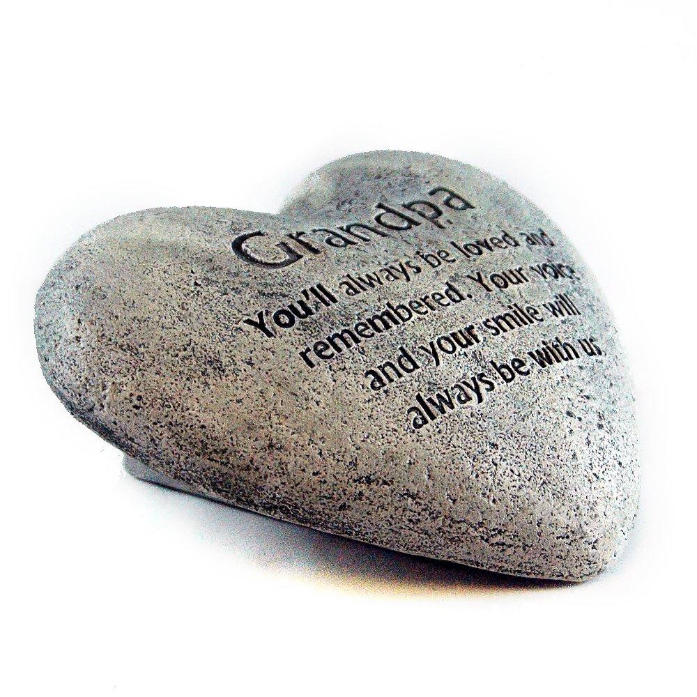 Gerson Heart Shaped Memory Stone for Grandpa