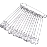 Outus Stainless Steel Safety Pins Blanket Pins 4 Inch Extra Large, 15 Pieces