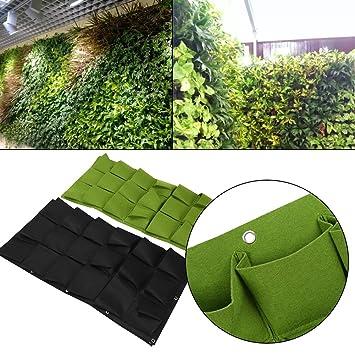 bolsas bolsas para plantar colgante de pared jardinera jardineras exterior al aire libre vertical greening