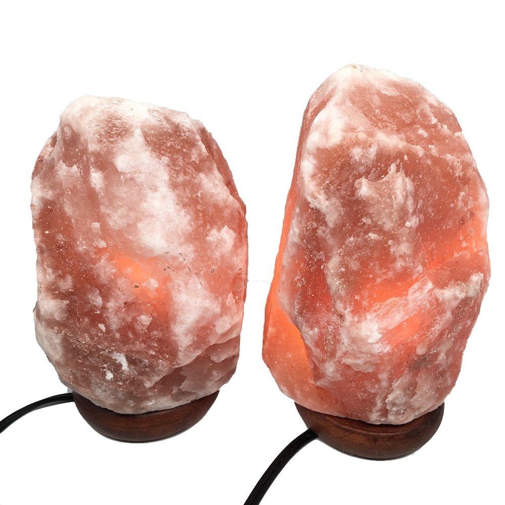 2x Himalaya Natural Handcraft Rough Raw Crystal Salt Lamp 8.25''-8.75''Tall, X0114, Exact Item will be Delivered