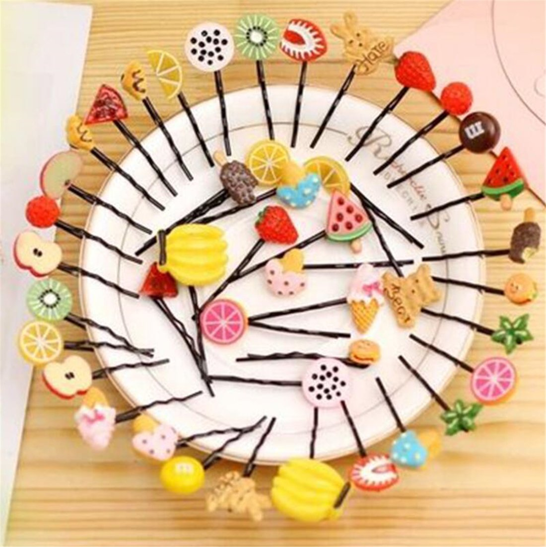 Tmrow 10PCS Lovely Fruit hairpin Small Hair Clip for Birthday Party