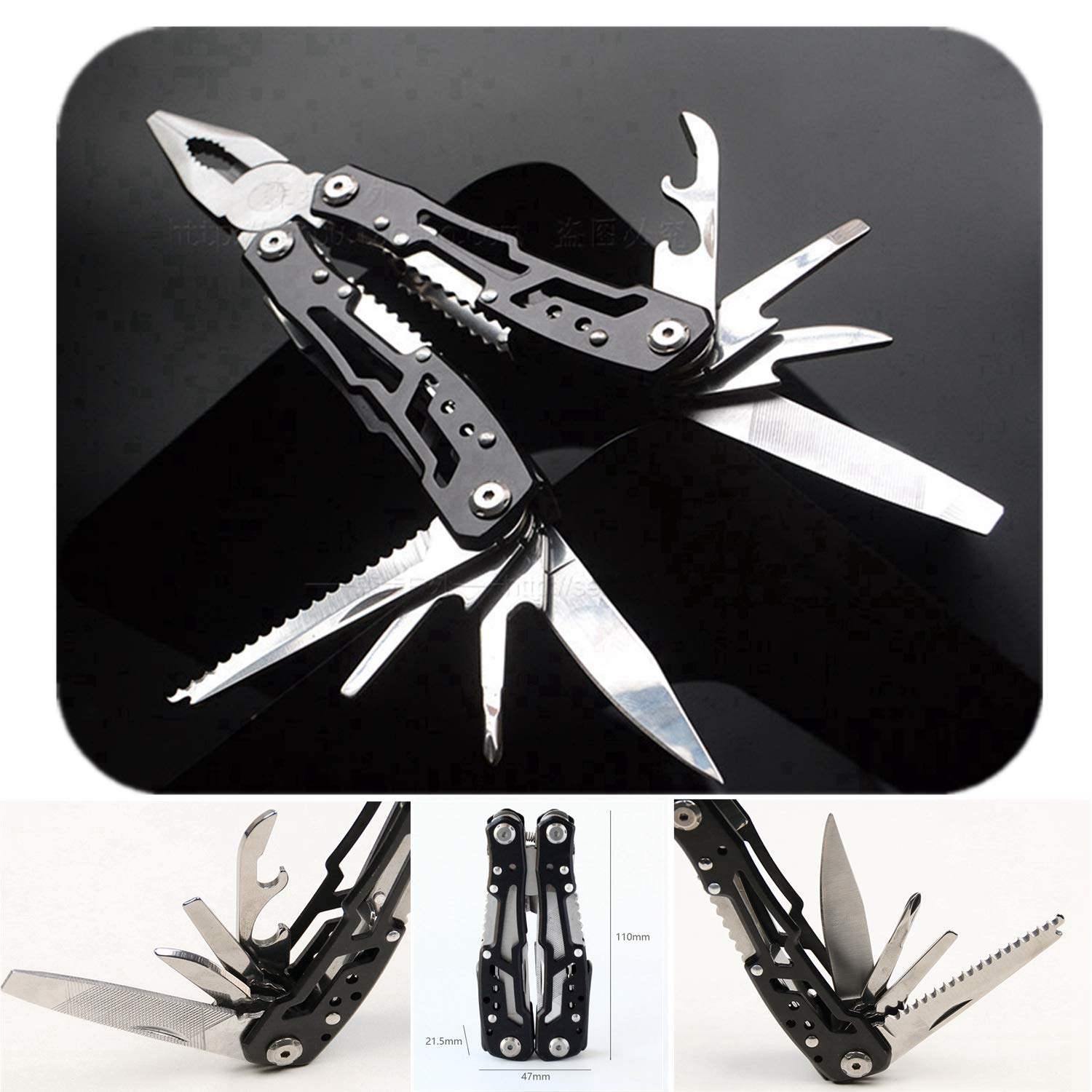 Multitool Plier with Sheath Sidekick Pocket Size Tactical Suspension Plier with Knife for Home, Survival, Camping, Hiking, Fishing
