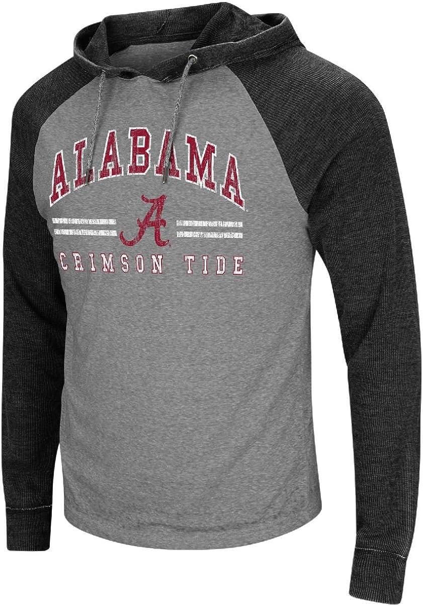Colosseum Alabama Crimson Tide Charcoal Personal Flair Hoodie Long Sleeve T Shirt