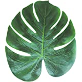 Tinksky Palma tropicale artificiale foglie 35x29cm falso foglia per Hawaii Luau Party decorazioni imballare 12pcs