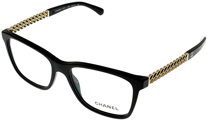 Chanel Prescription Eyewear Frames Womens Black CH3302 C622: Amazon ...